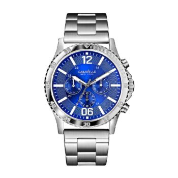 Caravelle New York Men's Blue Dial Stainless Steel Watch