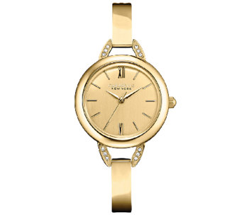 Caravelle New York Women's Goldtone Bangle Watch - J336869