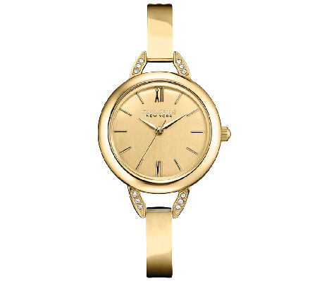 Caravelle New York Women's Goldtone Bangle Watch