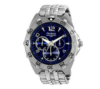 Armitron Men's Stainless Multifunction Blue Dial Sport Watch - J338769