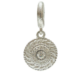 Judith Ripka Sterling Diamonique & Textured Charm - J340569