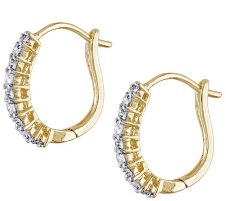 Diamond Cuff Earrings 14K Yellow Gold, by Affinity