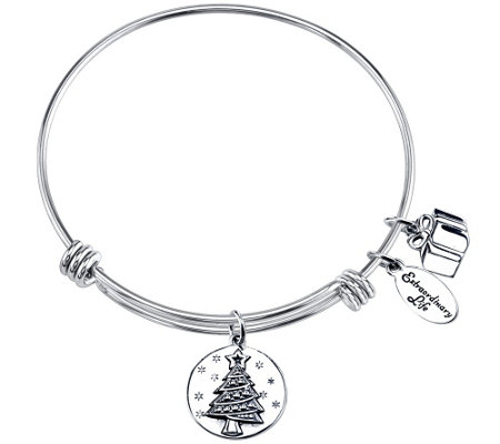 Extraordinary Life Sterling Seasons GreetingsBangle