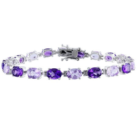 Sterling 14.50 cttw Amethyst and Rose de FranceBracelet