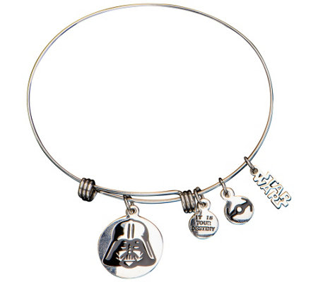 Star Wars Stainless Steel Darth Vader Expandable Bracelet