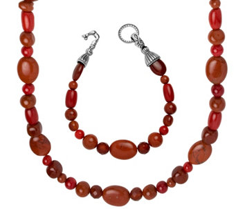 Carolyn Pollack Color Connections Necklace & Bracelet Set - J342869