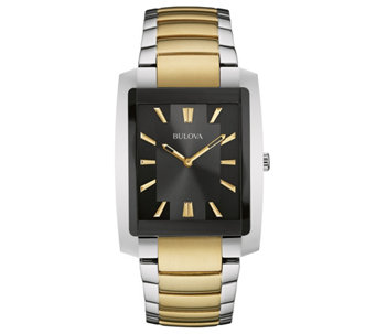 Bulova Men's Two-tone Stainless Steel BraceletWatch - J343569