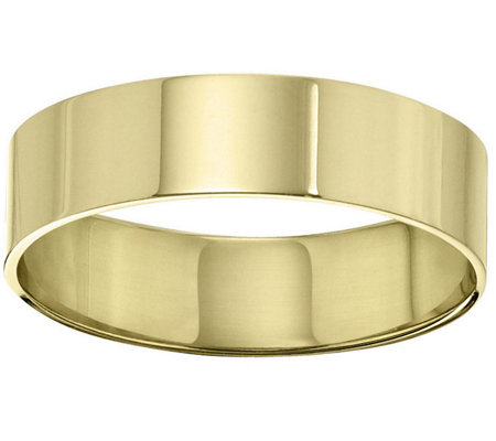 Men's 18K Yellow Gold 6mm Flat Comfort Fit Wedding Band