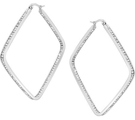 Stainless Steel Inside Out Square Hoop Earrings
