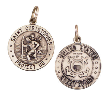 Sterling Saint Christopher /Coast Guard Medal charm
