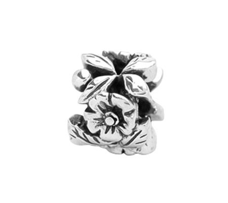 Prerogatives Sterling Dimensional Floral Bead