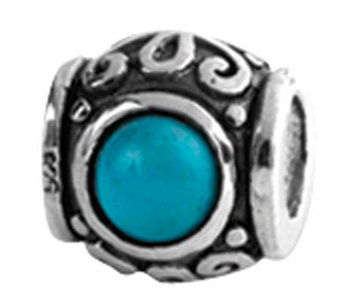 Prerogatives Sterling Design Turquoise Cubic Zirconia Bead - J108970