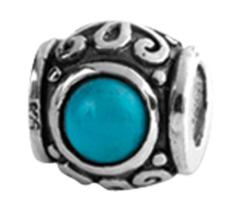 Prerogatives Sterling Design Turquoise Cubic Zirconia Bead