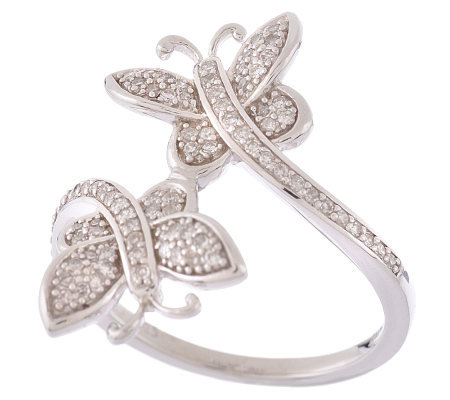 AffinityDiamond Sterling 1/4 ct tw Butterfly Wrap Ring