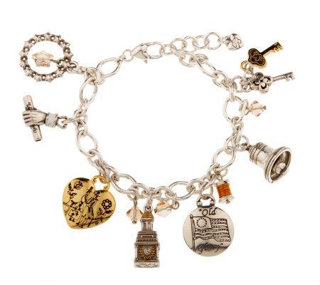 brighton liberty charm bracelet page 1 qvc