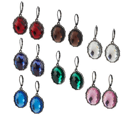 Joan Rivers 7 Days of Color Lever Back Earrings