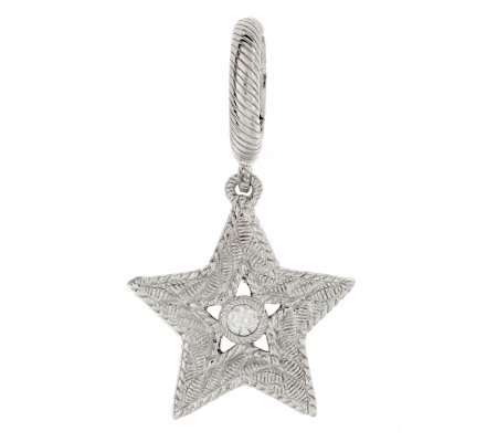 Judith Ripka Sterling Silver Diamonique Star Charm