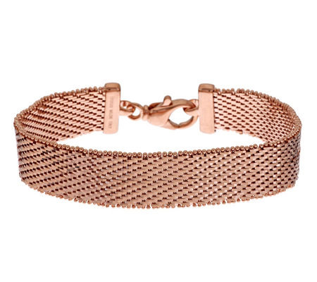 """As Is"" Bronzo Italia 8"" Bold Diamond Cut Riccio Bracelet"