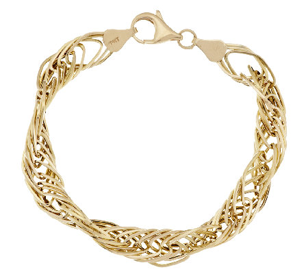 "EternaGold 7"" Polished Multi-link Bracelet 14K Gold, 5.3g"
