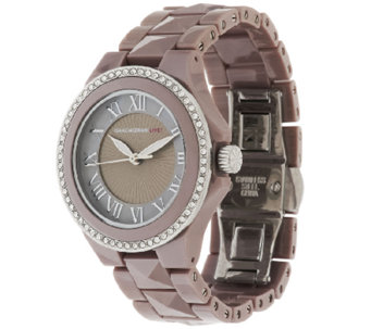 Isaac Mizrahi Live! Crystal Bezel Ceramic Watch - J295470