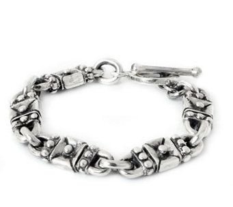 "Novica Artisan Crafted Sterling ""Lock and Key""Link Bracelet - J307670"
