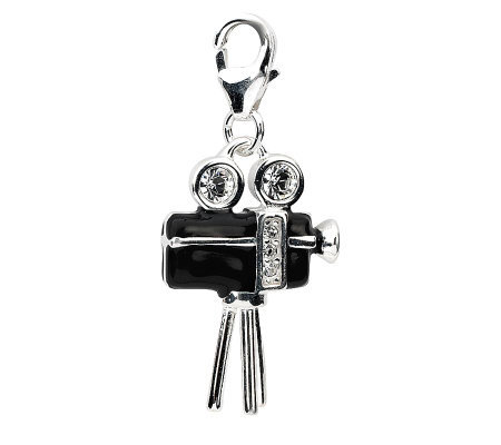 Amore La Vita Sterling Dimensional Movie CameraCharm
