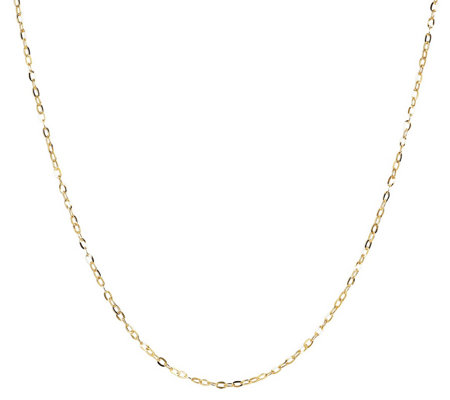 "Milor 24"" Fine Hammered Oval Link Chain, 14K Go ld"