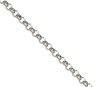 "Steel by Design 4.6mm 24"" Rolo Chain Necklace - J308870"