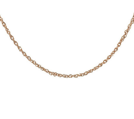 "16"" Diamond Cut Singapore Necklace, 14K Gold 1.60g"