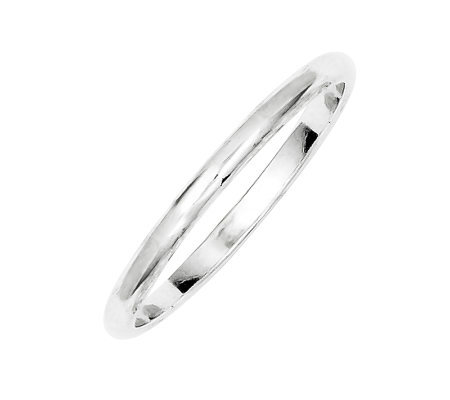 Sterling 2mm Polished Half-Round Ring