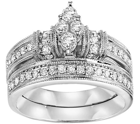 Marquise Diamond 2-Pc Diamond Ring, 14K, 2/3cttw, by Affinity