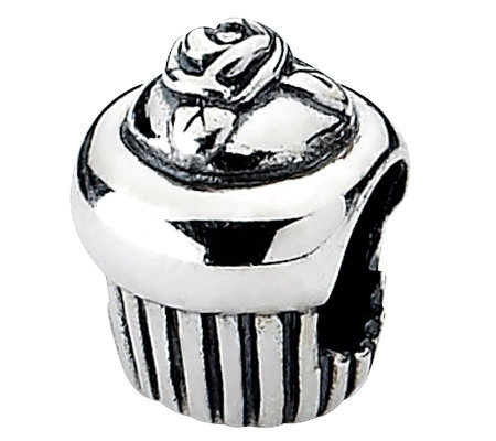 Prerogatives Sterling Cupcake Bead