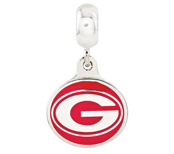Sterling Silver University of Georgia Dangle Bead - J314970