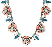 "Joan Rivers Vintage Style Crystal Bee 18"" Statement Necklace - J318970"