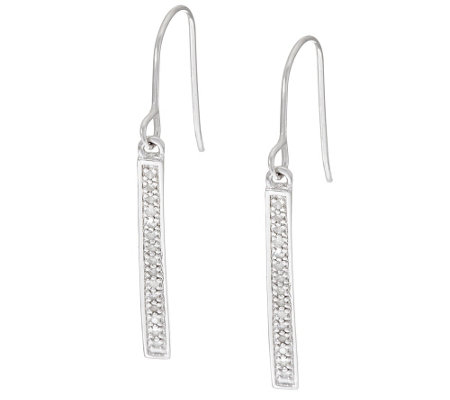 Stick Drop Diamond Earring Sterling, 1/5 cttw, by Affinity