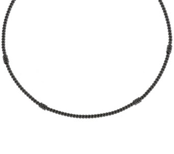 "Judith Ripka Sterling 20"" Textured Collar Necklace - J322770"