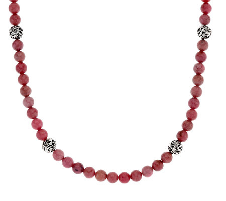 "Carolyn Pollack Sterling Silver 18"" Signature Bead & Gemstone Necklace"