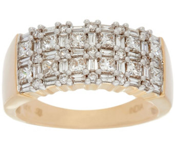 Multi-Cut Diamond Band Ring, 14K, 1.00 cttw, by Affinity - J330570