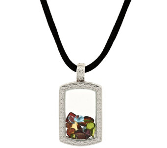 """As Is"" Attitudes by Renee Life 1/2 Full Pendant Necklace - J330670"