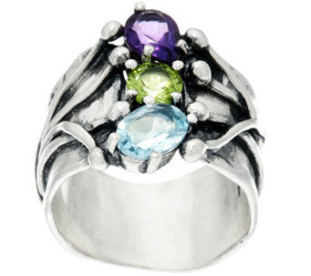 Sterling Silver 1.80 cttw Multi-Gemstone Ring by Or Paz - J333070