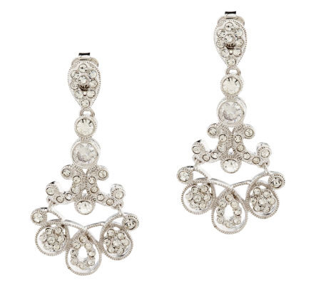 Nadri Petite Milgrain Design Chandelier Earrings