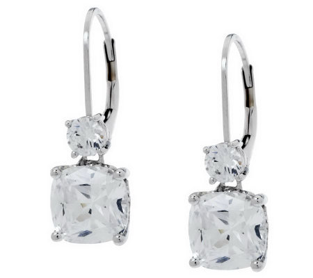 Epiphany Diamonique 4.50 ct tw Double Drop Earrings