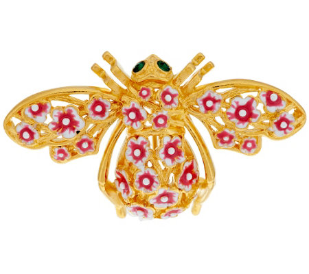 Joan Rivers Cherry Blossom Bee Pin