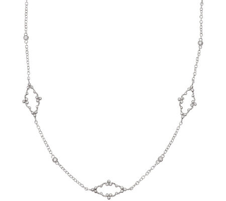 Judith Ripka Sterling 1.80ct Diamonique Station Necklace