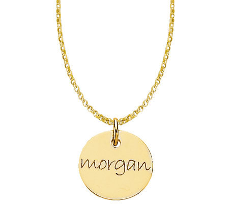 Posh Mommy 18K Gold-Plated Mini Disc Pendant with Chain