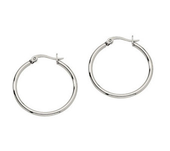 "Stainless Steel 1"" Hoop Earrings - J302171"