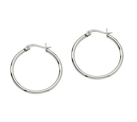 "Stainless Steel 1"" Hoop Earrings"