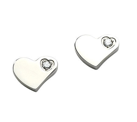 Steel by Design Polished Heart Stud Earrings