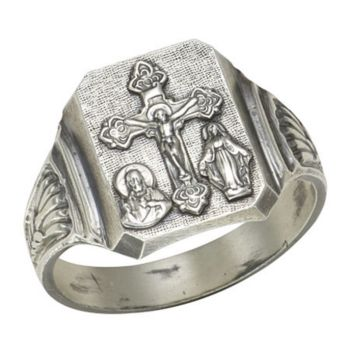 Sterling Silver Bold Scapular Ring