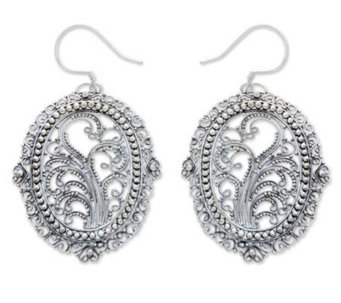 "Novica Artisan-Crafted Sterling ""Filigree Sanctuary"" Earrings - J303871"
